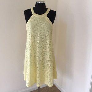 Betsy Johnson size 8, yellow Lace halter dress